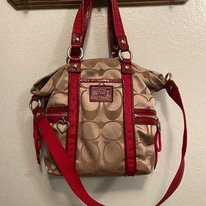 Coach Poppy Daisy Signature pocket Bag